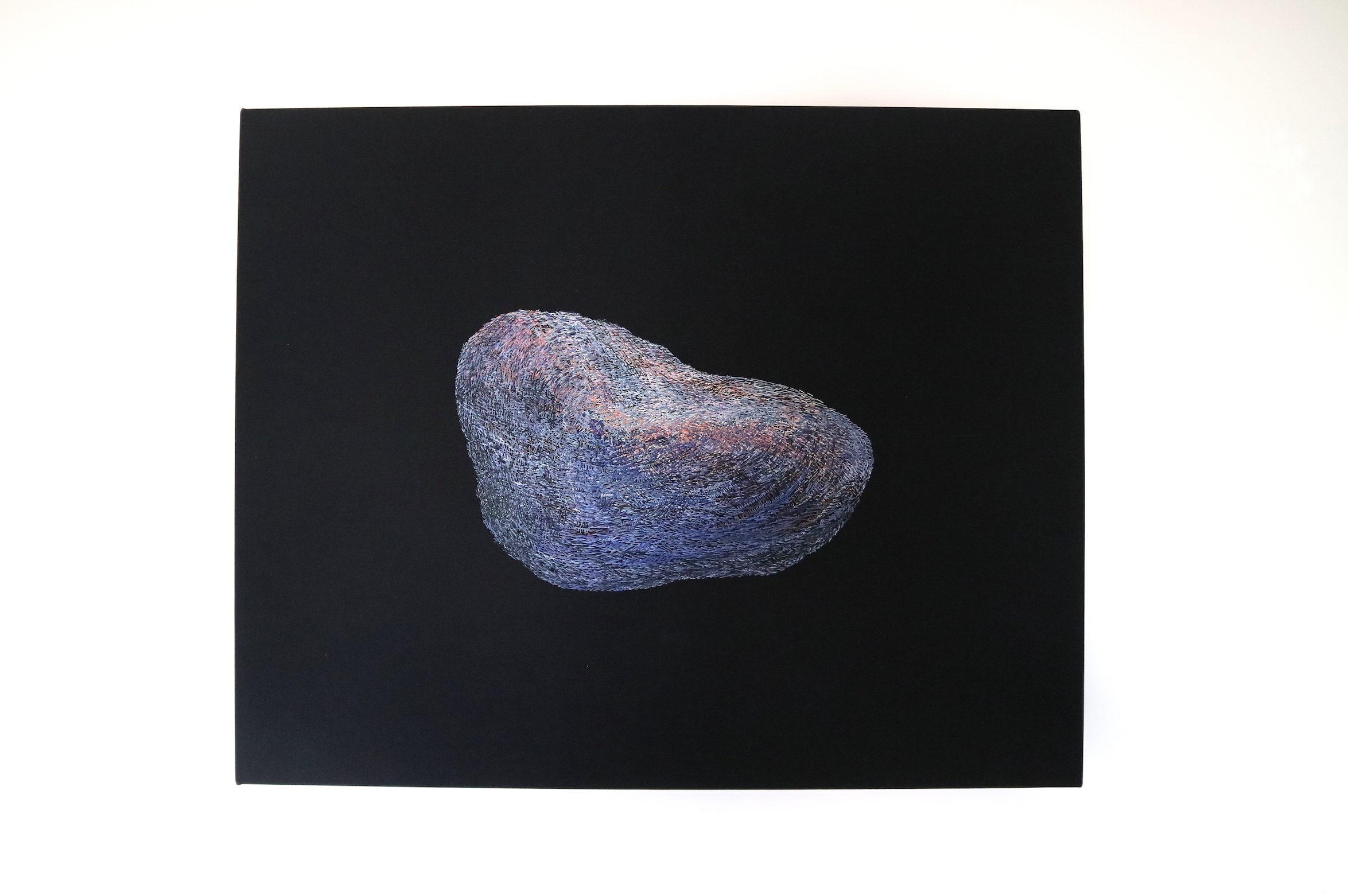 石−女 , Stone-Woman , 2018   40×50×2.7cm , silk embroidery on silk cloth
